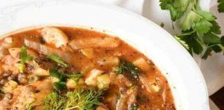 zuppa pesce lenticchie ricetta FOTO ricettasprint