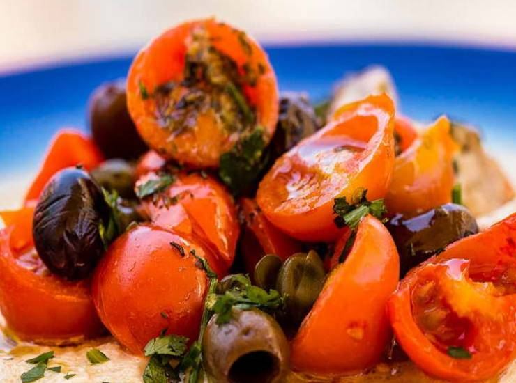 pomodorini e olive nere