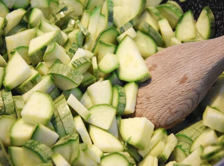 zucchini tagliati a cubetti