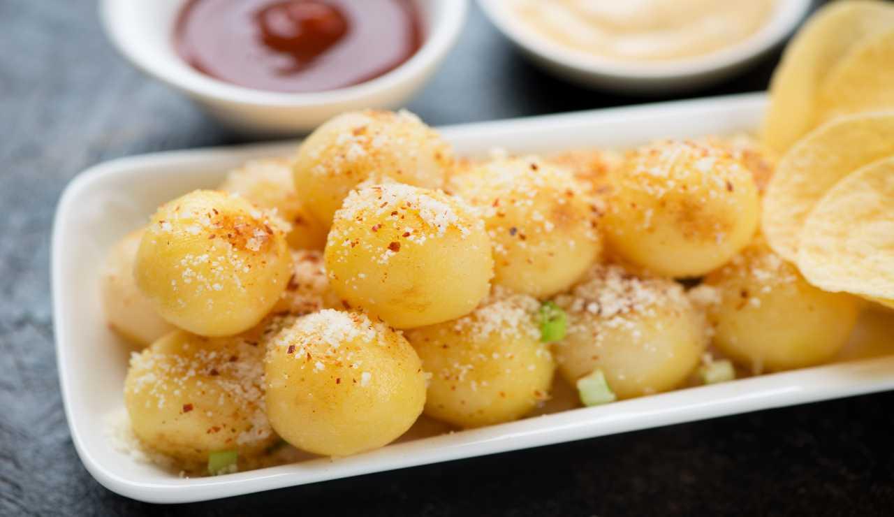 Bocconcini di parmigiano allo zafferano