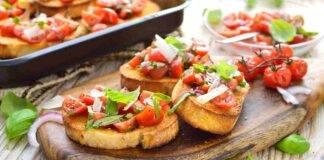 Bruschette pomodorini parmigiano basilico ricetta FOTO ricettasprint