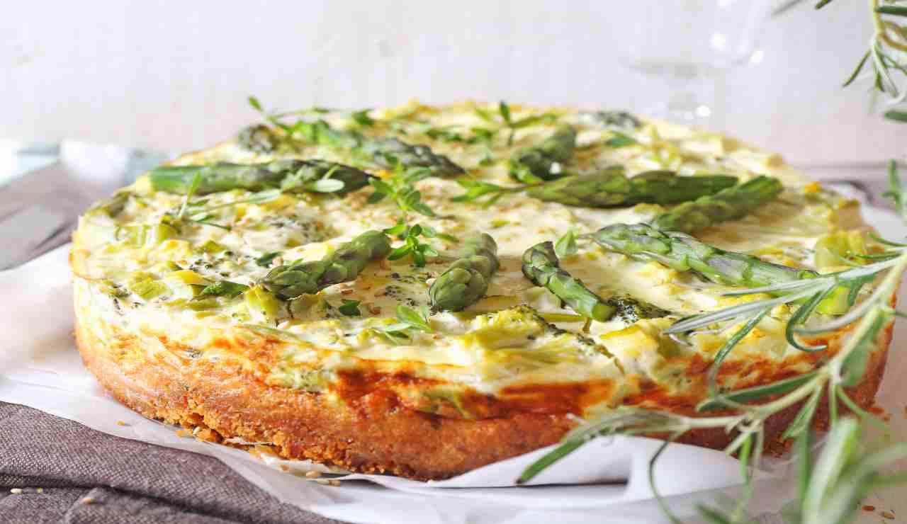 Cheescake light di asparagi broccoletti e philadelphia