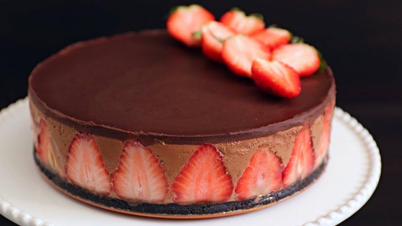 cheesecake cioccolato fragole ricetta FOTO ricettasprint