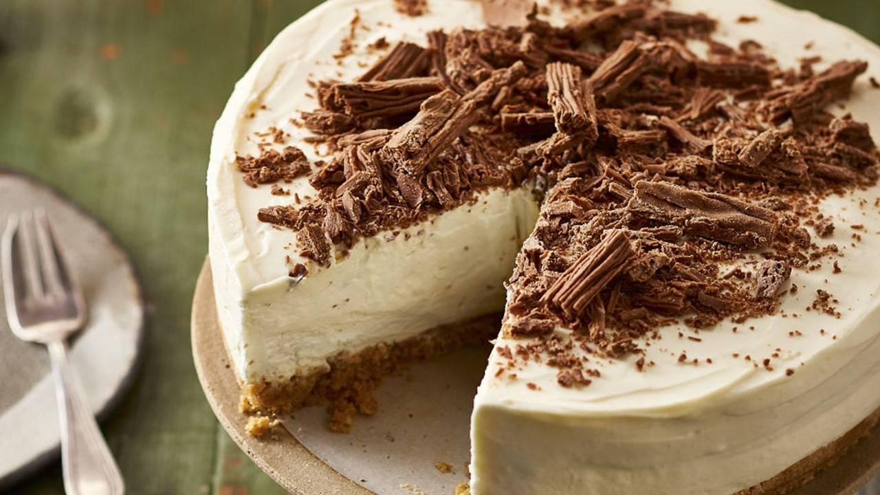 Torta con formaggio senza lattosio e cioccolato fondente