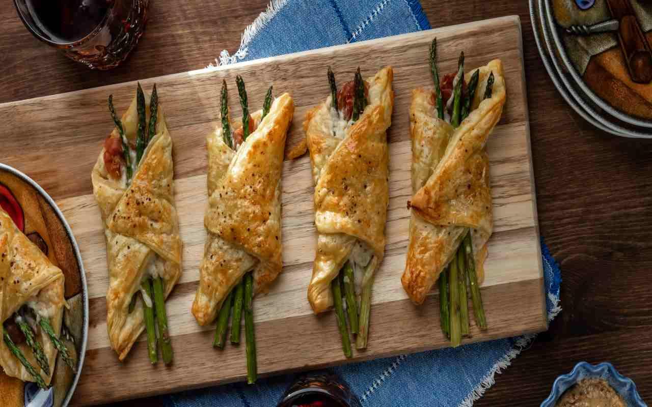 coni sfoglia asparagi ricetta FOTO ricettasprint