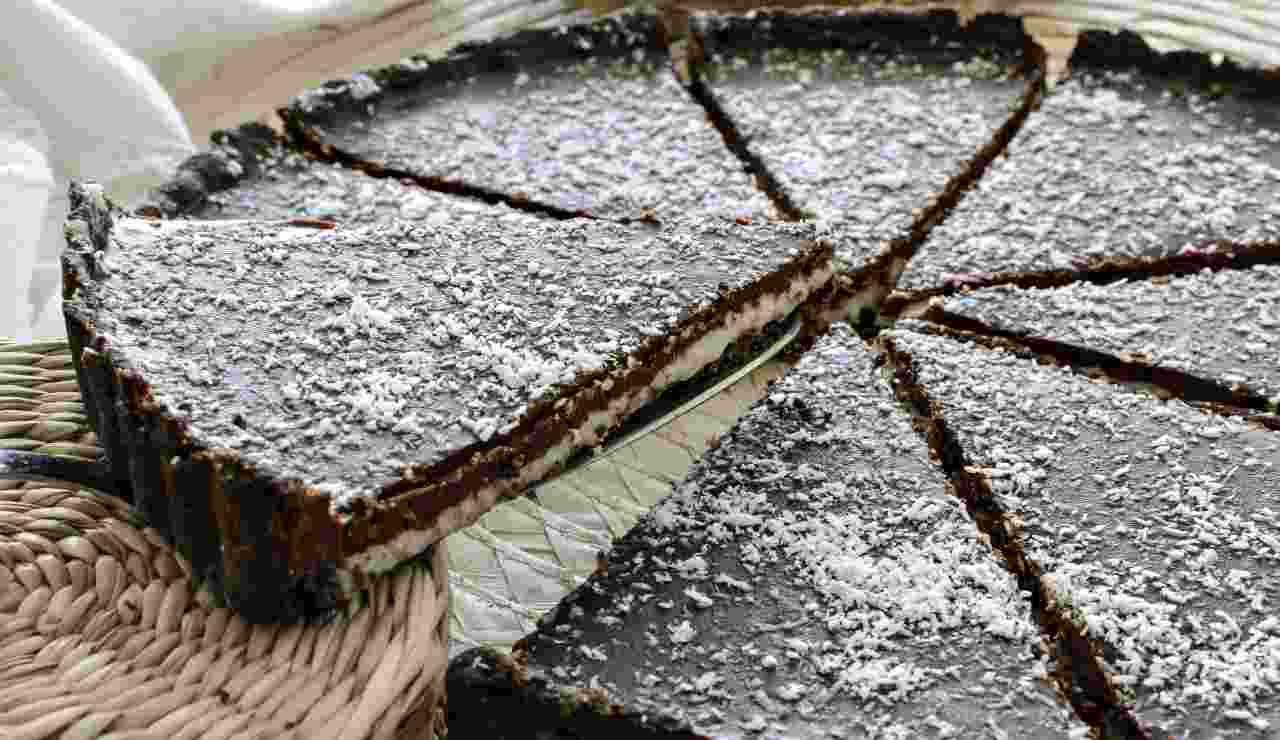 Crostata cioccolato cocco e vaniglia