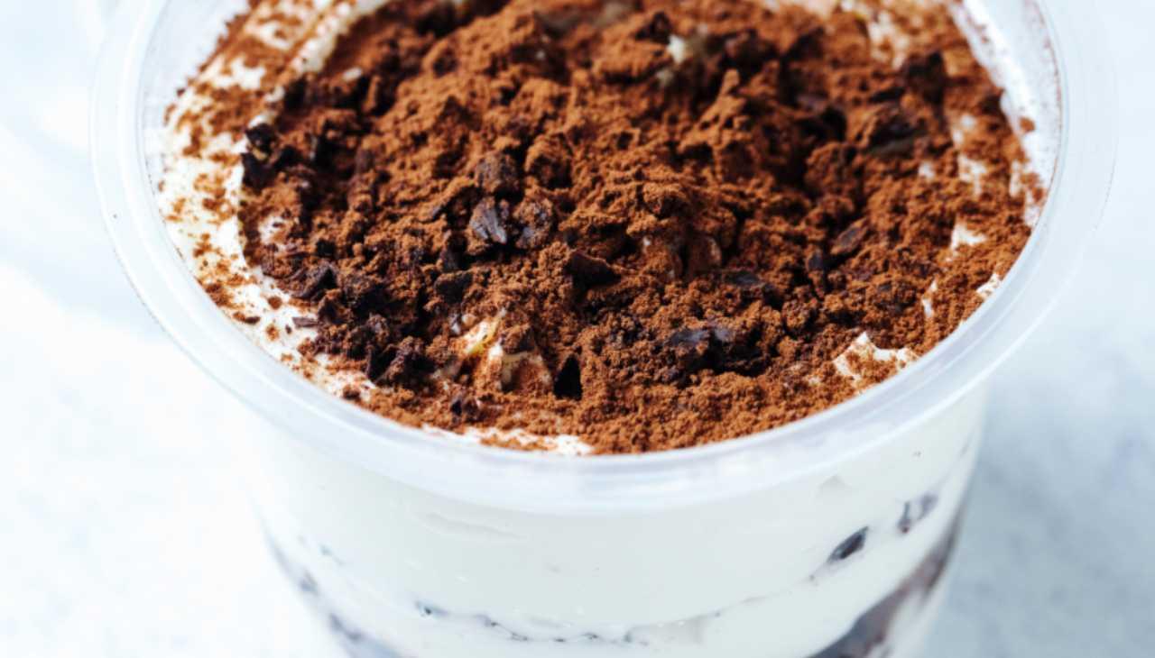 Dolcino al mascarpone e cioccolato con caffè