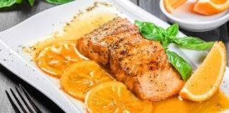 Salmone al forno agrodolce