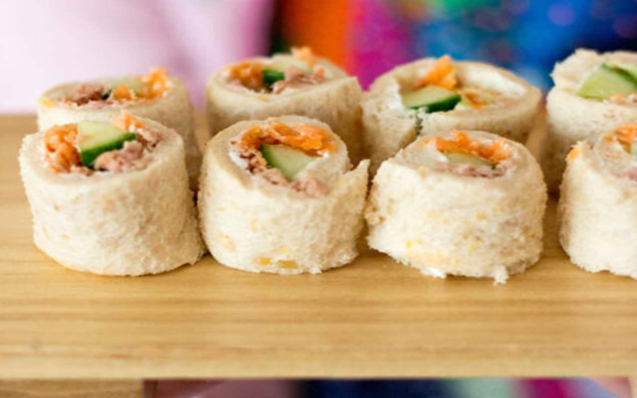 finto sushi pancarrè ricetta FOTO ricettasprint