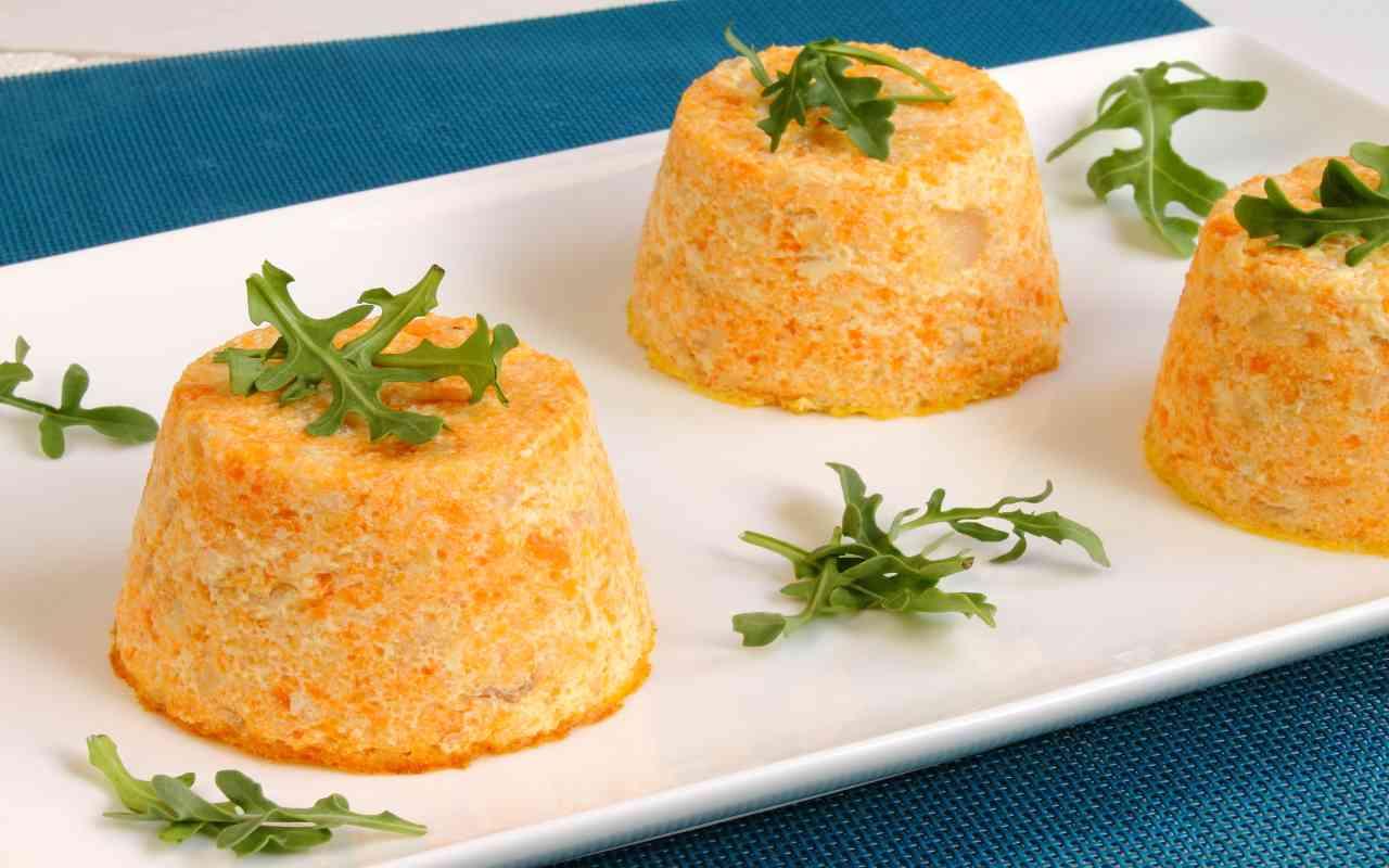 flan carote ricetta FOTO ricettasprint