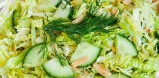 Cavolo e cetriolo con olio d'oliva