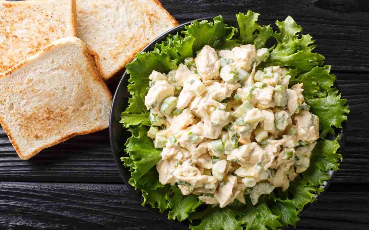 insalata pollo maionese ricetta FOTO ricettasprint