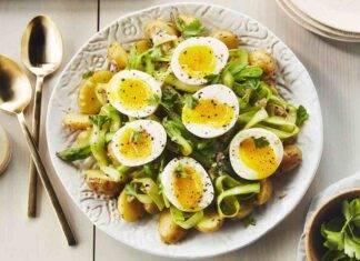 insalata uova asparagi patate ricetta FOTO ricettasprint
