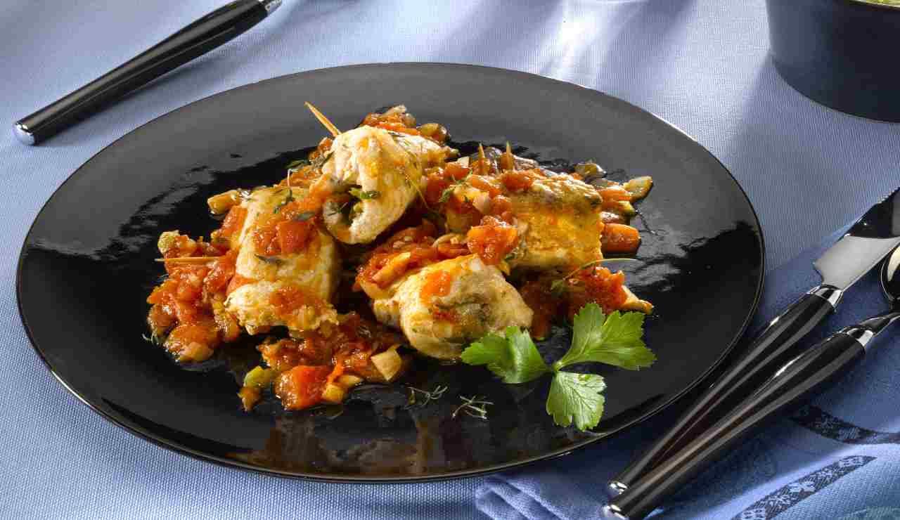 Involtini di pesce spada con verdure