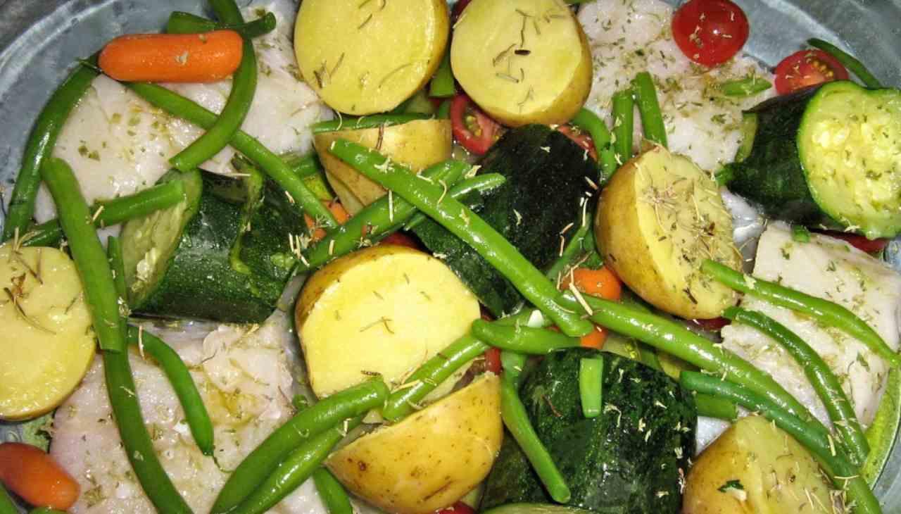 Secondo di pesce e verdure