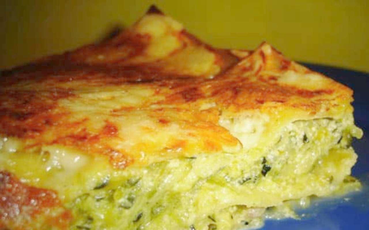lasagna pesto zucchine ricetta FOTO ricettasprint
