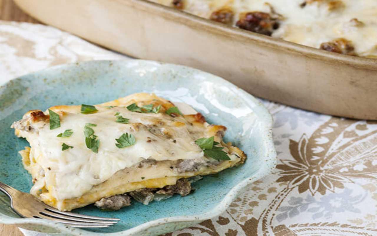 lasagna stracchino salsiccia ricetta FOTO ricettasprint