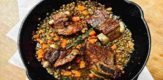 lenticchie umido costine ricetta FOTO ricettasprint