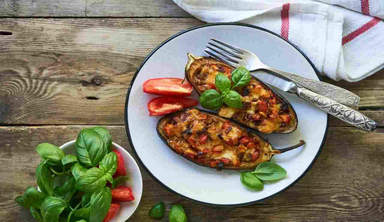 Melanzane vegetariane alla mediterranea