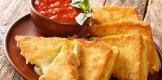 Mozzarella in carrozza aromatizzata al forno