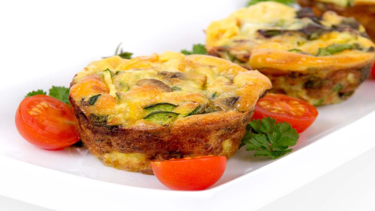 Muffin frittata con verdure