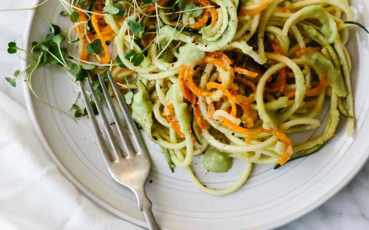 pasta integrale carote zuchcine ricetta FOTO ricettasprint