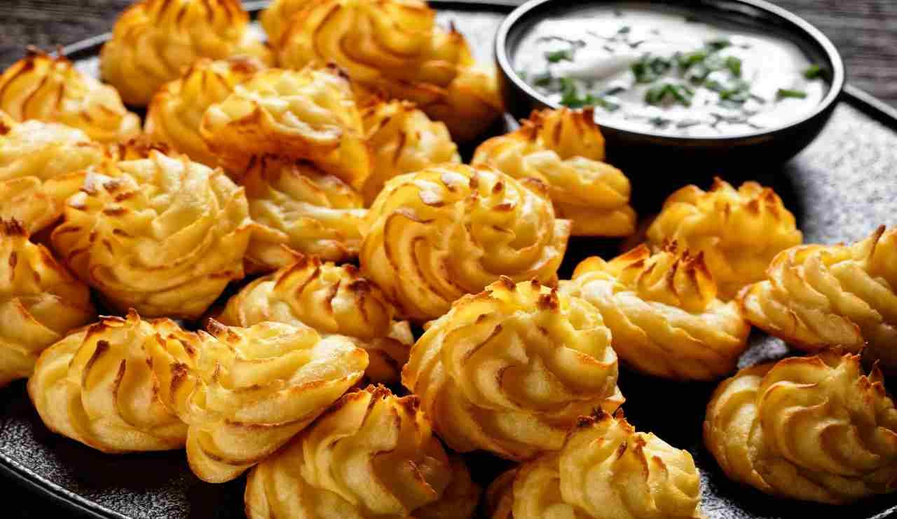 Patate alla duchessa con ricotta e tartufo