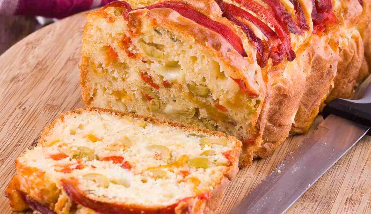 Plumcake salato veloce olive e pancetta ricettasprint