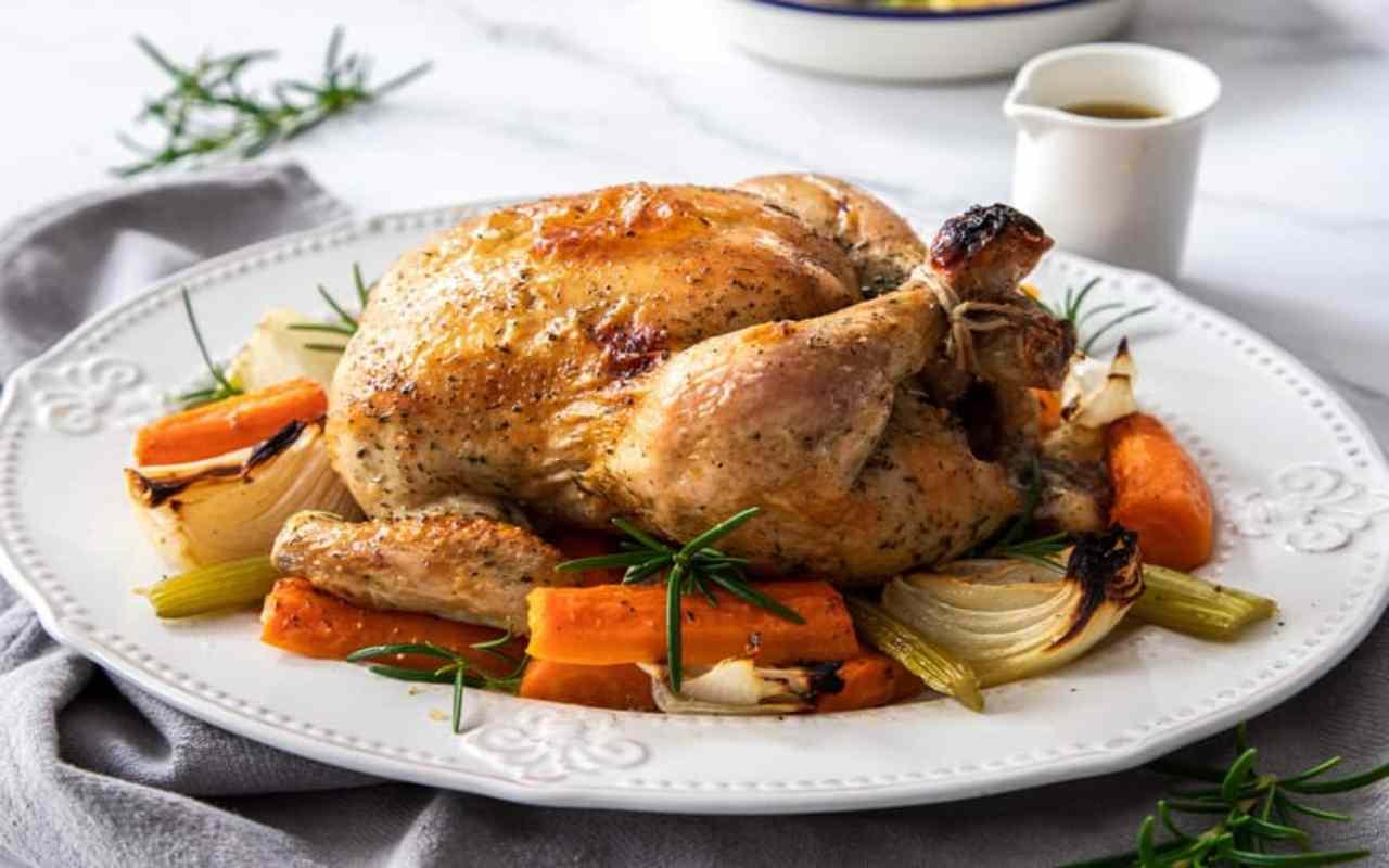 pollo stimpirata verdure ricetta FOTO ricettasprint