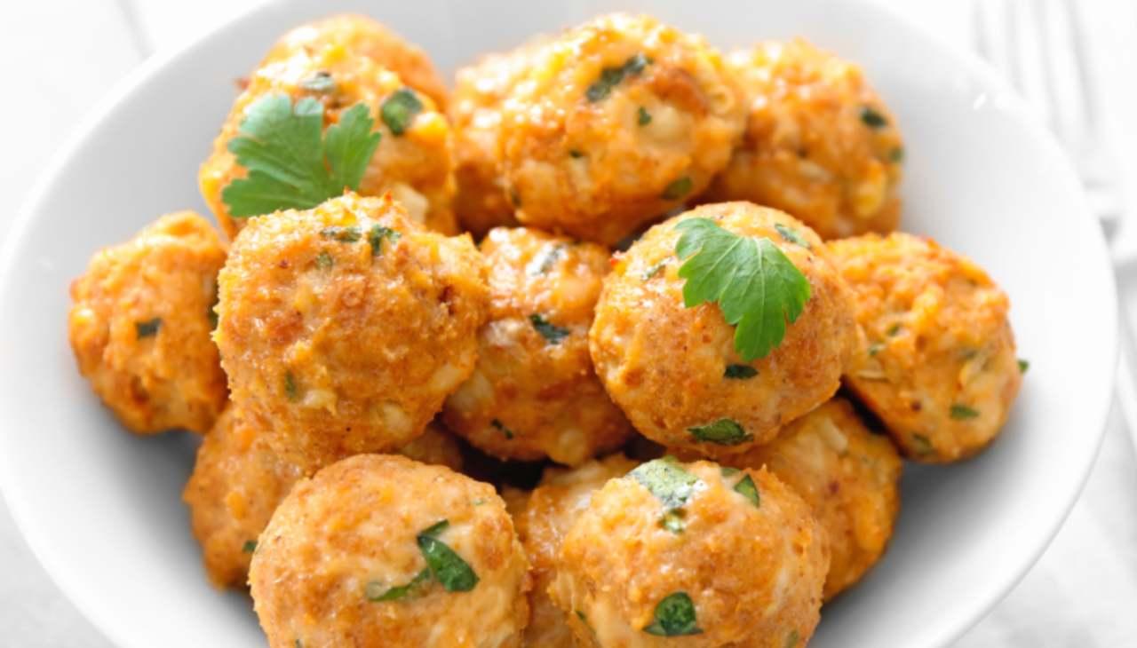 Palline di polenta ricetta riciclo