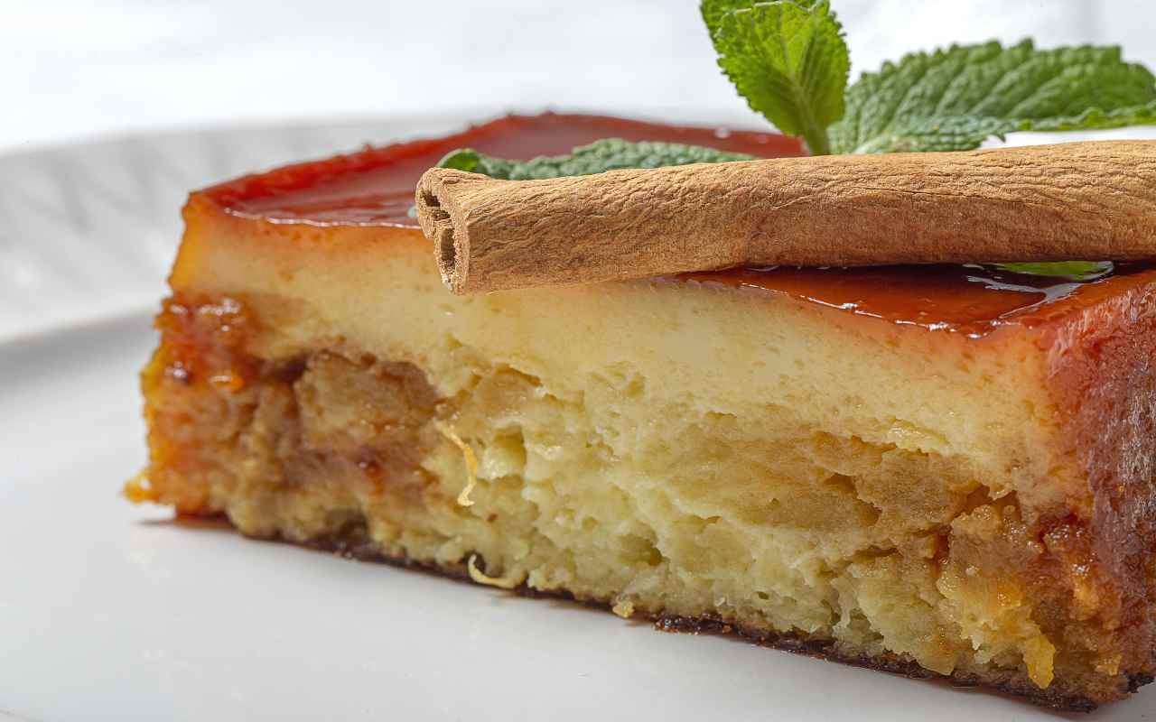 pudding caramello mele ricetta FOTO ricettasprint