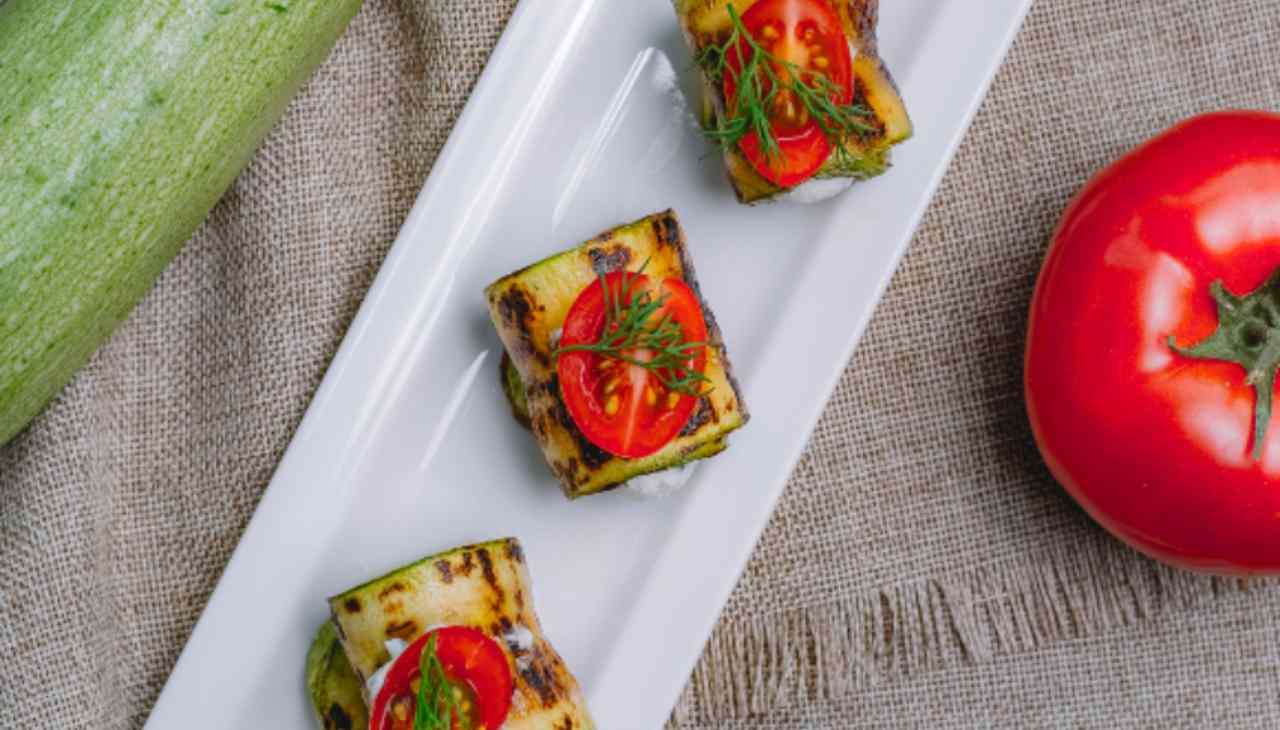 Stuzzichino di pesce verdura e formaggio