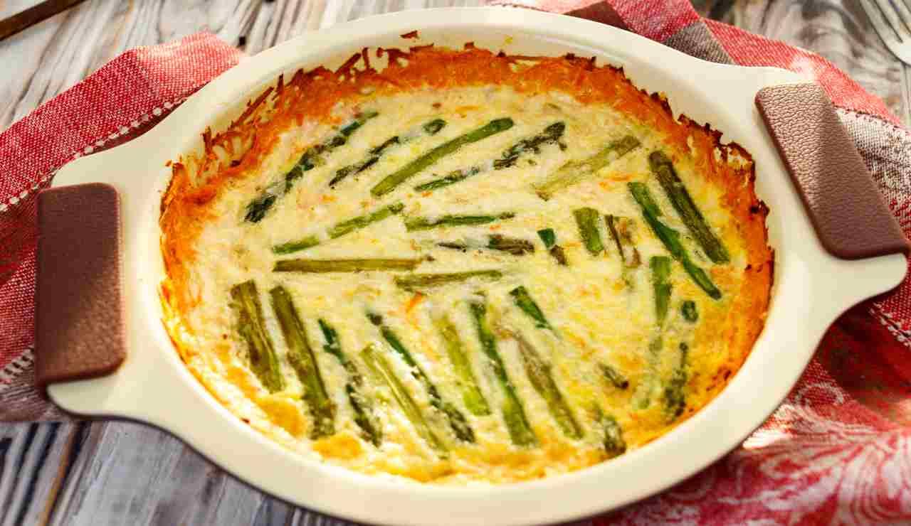 Sformato di asparagi e patate aromatizzati