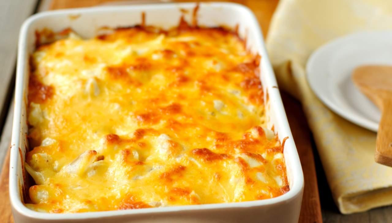 Finger food di vrudre gratinato al formaggio