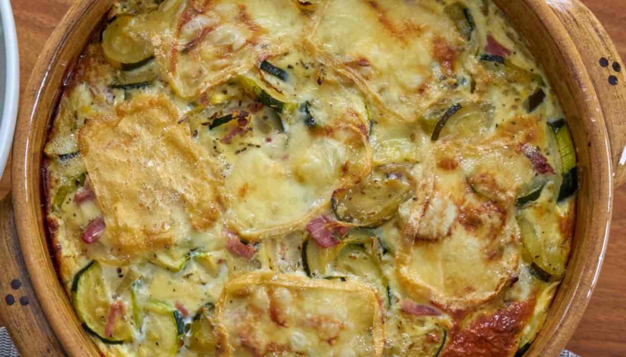 Sformati di verdura, formaggio e prosciutto crudo