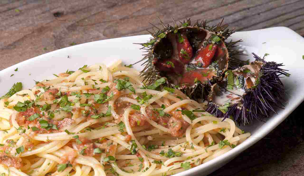 Spaghetti al riccio di mare