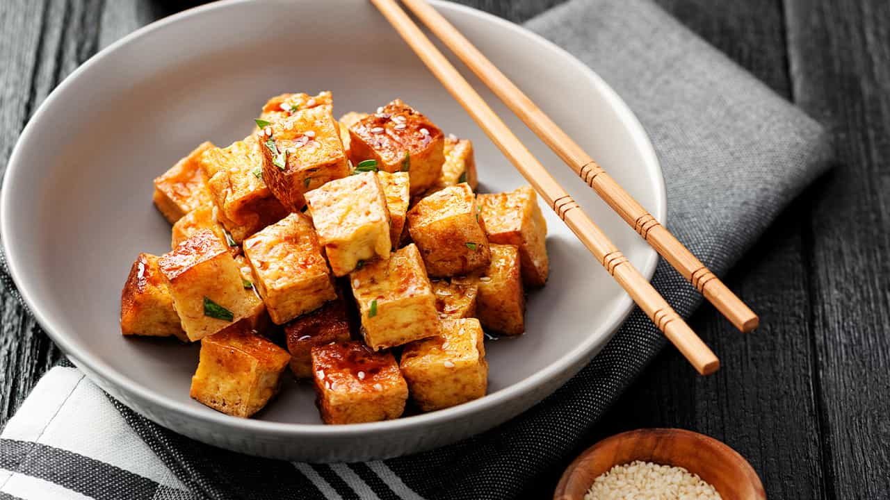 Tofu di soia cn spezie