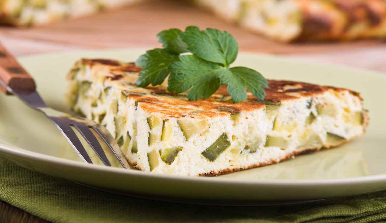 Torta in pastella di zucchine e ricotta