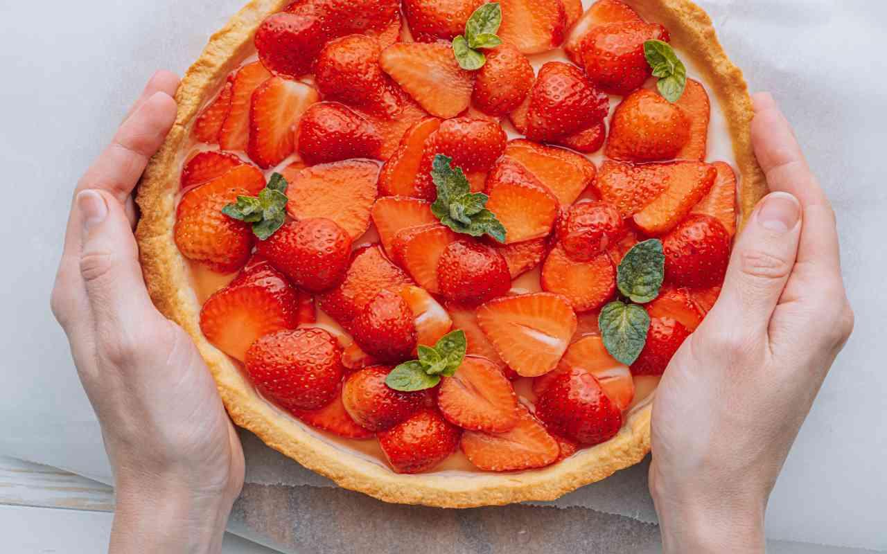 quiche fragole dolce ricetta FOTO ricettasprint