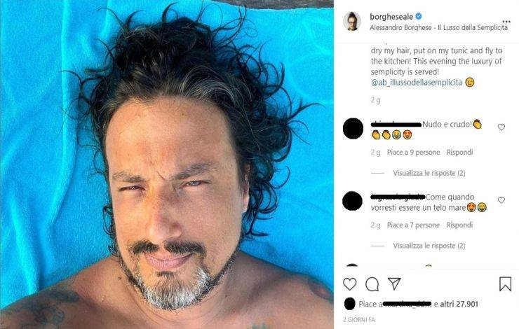 Alessandro Borghese nudo - RicettaSprint