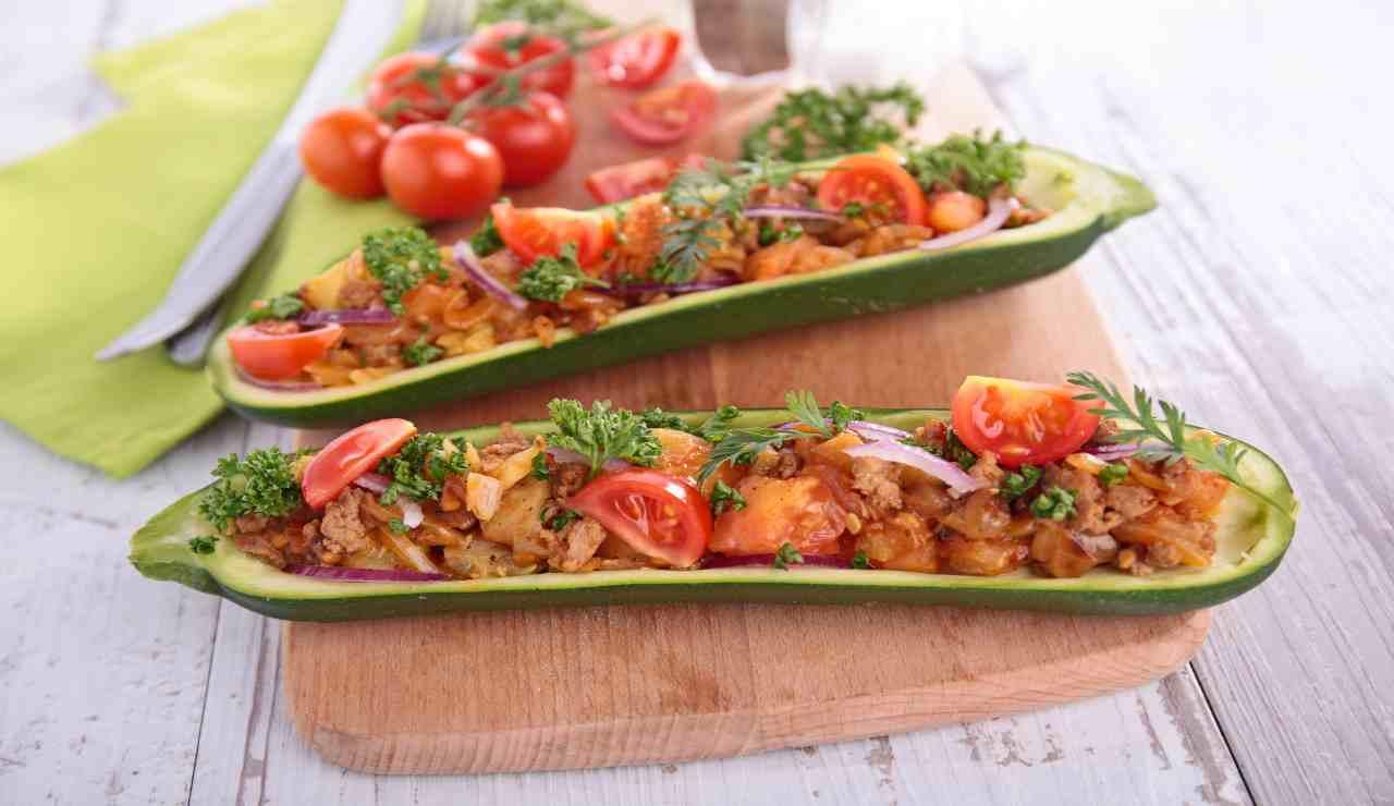 Barchette di zucchine light