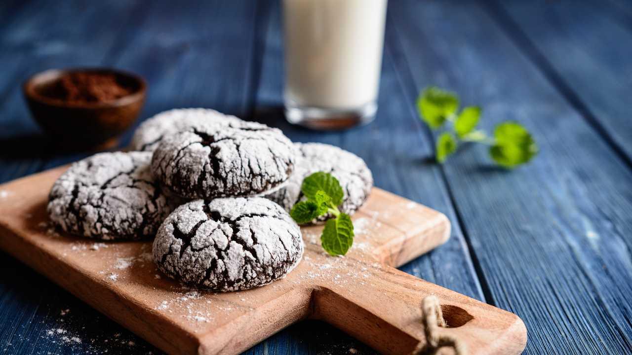 Biscotti al cacao e cocco