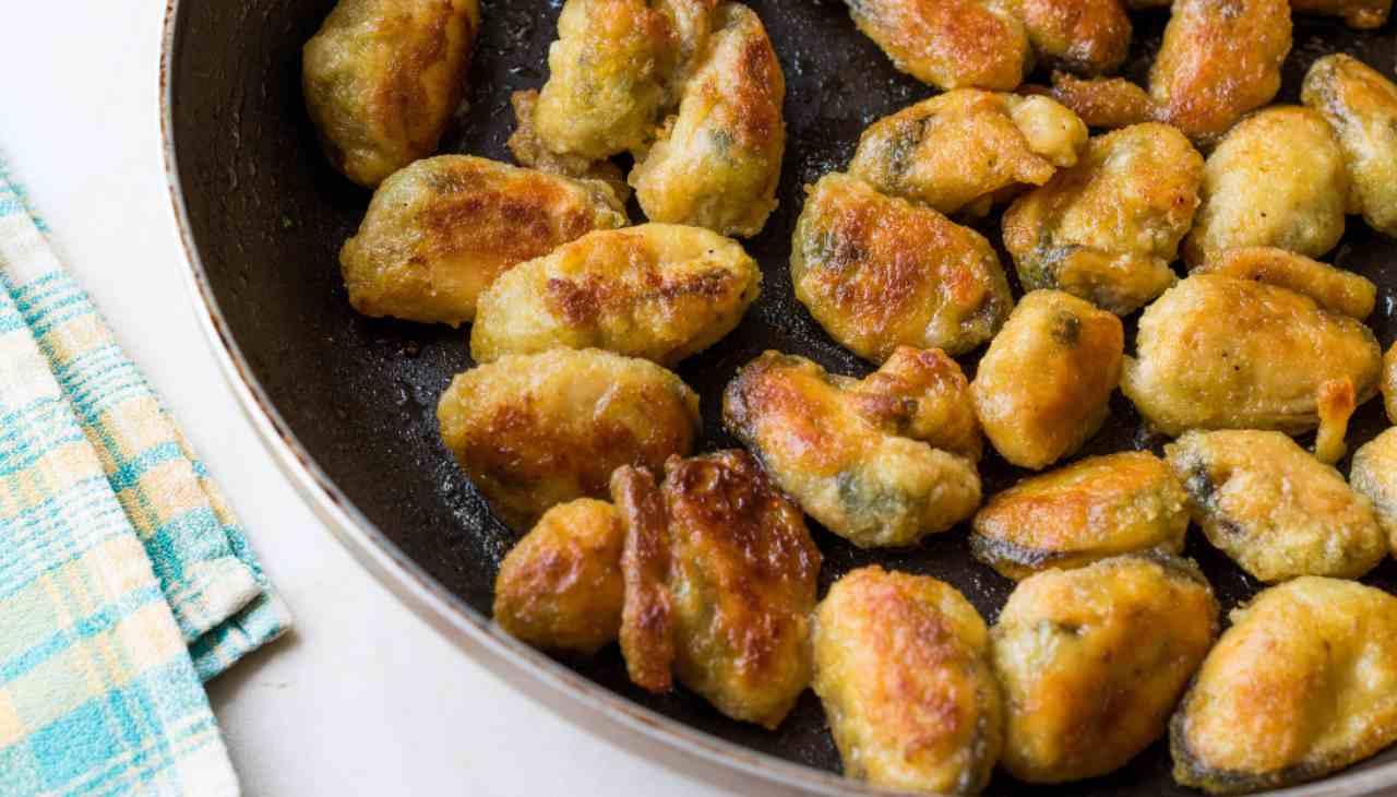 Molluschi impanati e fritti