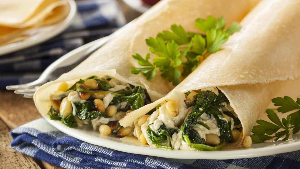 Crepes con spinaci