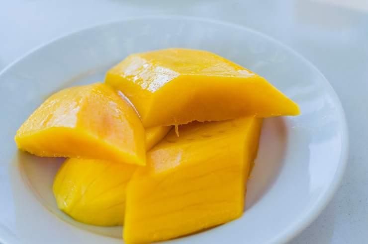 Pasta fredda con mango