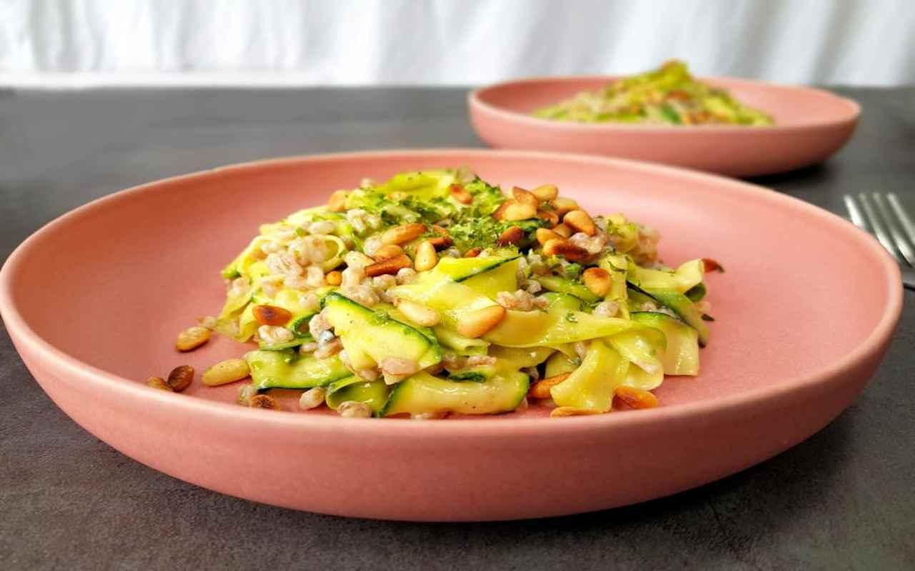 farro zucchine ricetta FOTO ricettasprint