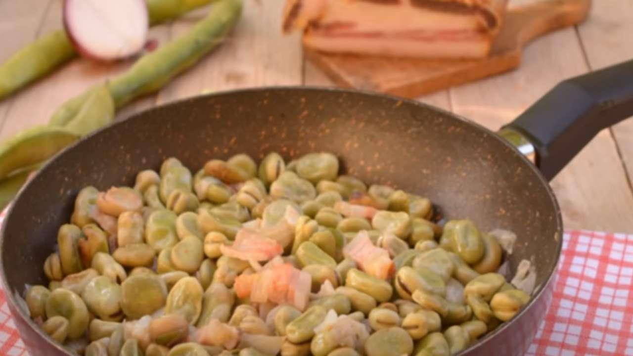 fave pancetta ricetta FOTO ricettasprint