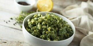 Pasta pesto di spinaci