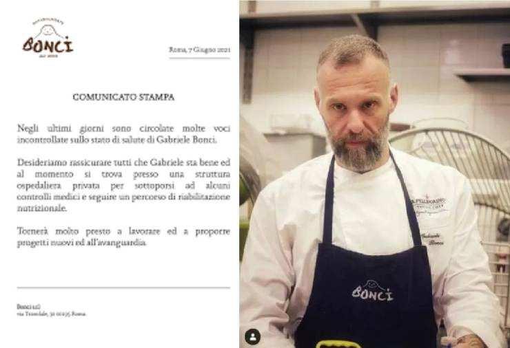Gabriele Bonci ricoverato-RicettaSprint