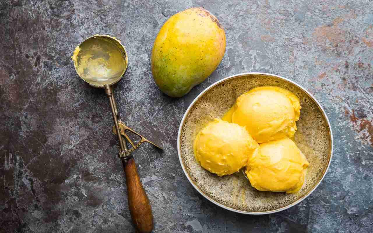 gelato mango arancia ricetta FOTO ricettasprint
